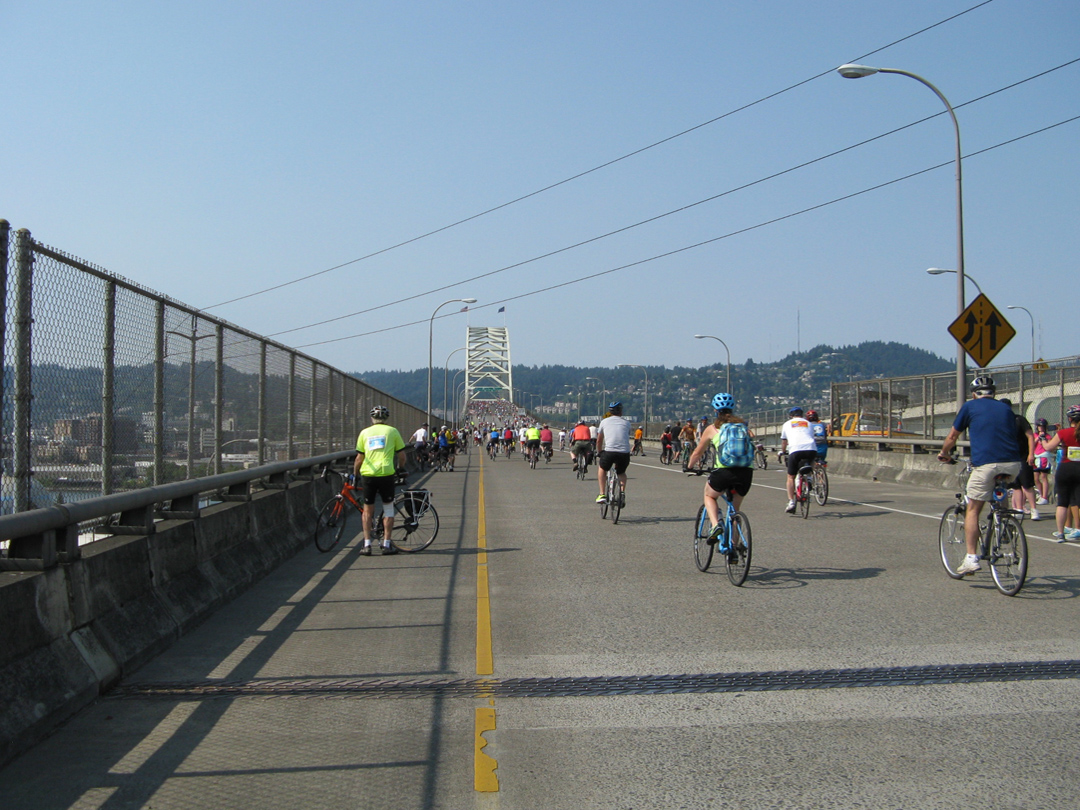 The Fremont Bridge.