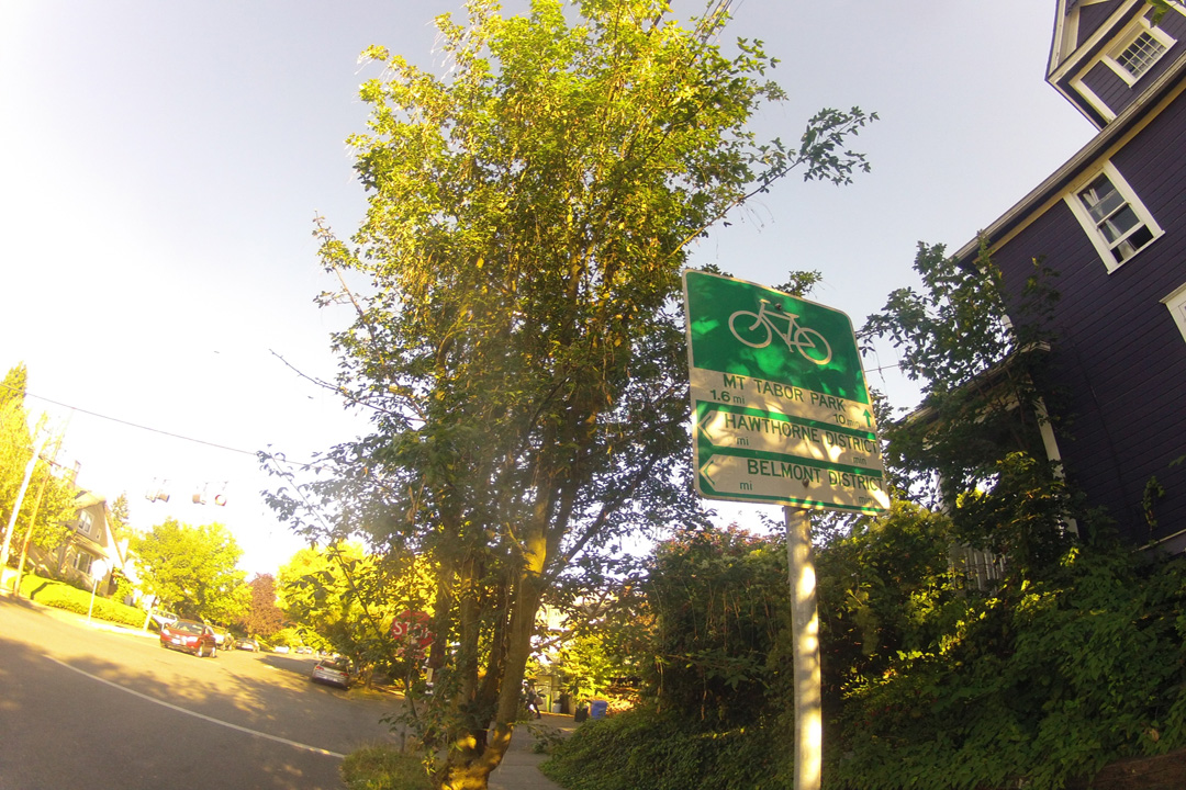 The bikeway to Mount Tabor.