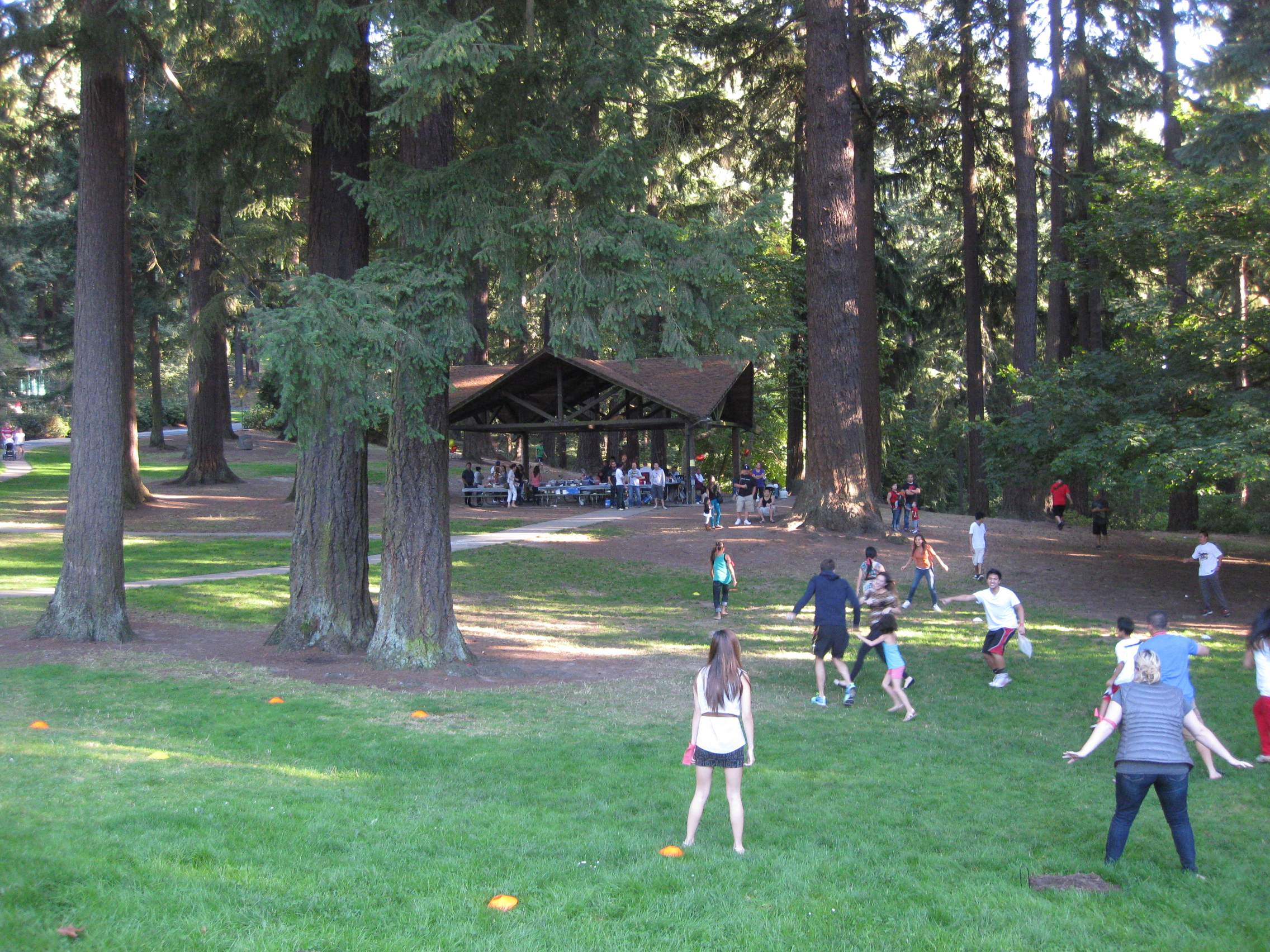 The picnic area.