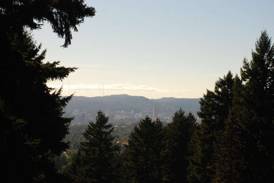 The view west from Mount Tabor