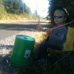 Music for the masses - playin' on The Springwater Trail