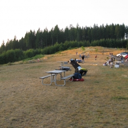 Pre-dusk picnic at Hilltop Day-Use area.