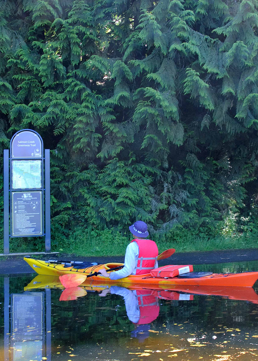 Paddling Salmon Creek